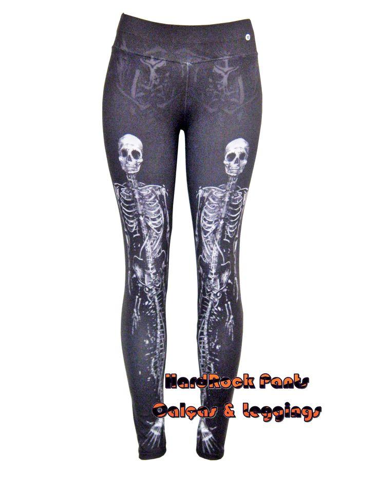 Compre já: hardrockpants.loja2.com.br | #calça #legging #estampada #moda #feminina #alternativa #printed #leggings #caveira #esqueleto #sereia #mermaid #skull #HardRockPants