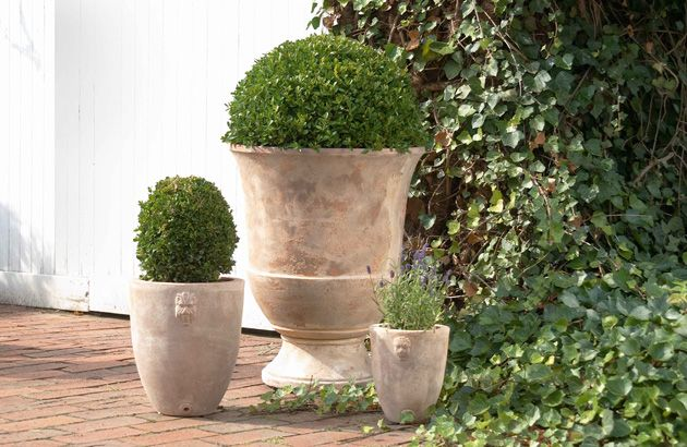 Kellock Trading | French Style Urns - Glazed Terracotta and Paint Finished Urns