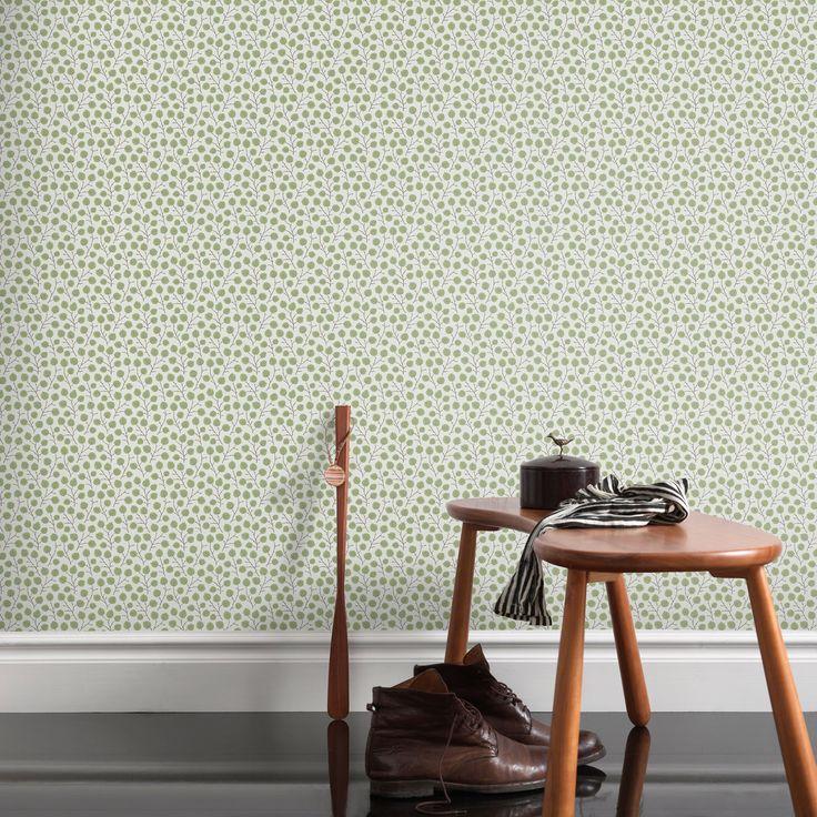Första stora bilden av tapetern Tuva Grön