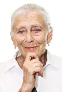 91 years of age and not many wrinkles. Also her hair style is easy to care for.