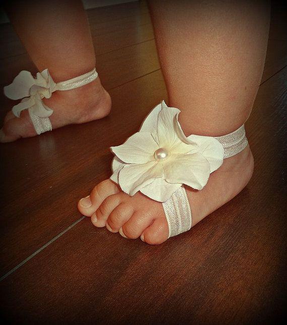 Baby Barefoot Sandals & Headband, Barefoot Sandals, Baby Shoes, Baby Headbands, Ivory Headband and Baby Sandals, Baptism Headband on Etsy, $12.99  Florida