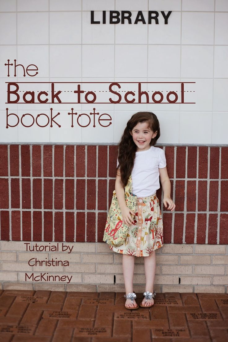 Welcome back Christina McKinney!  Today Christina is sharing her tutorial for an absolutely stunning ' Back To School Tote' for an absolute...