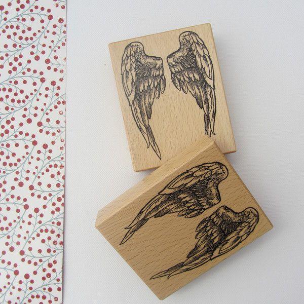 Große Flügel  ♥ Stempel von Silberpappel auf DaWanda.com
