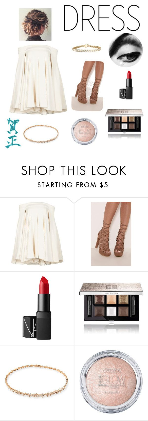 """""""i love god more than kanye luvs kanye"""" by queen-vic ❤ liked on Polyvore featuring Brandon Maxwell, NARS Cosmetics, Givenchy and Suzanne Kalan"""