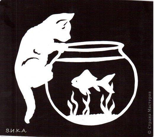 Kočička S Akv 225 Rkem Vystřihov 225 Nky Pinterest Goldfish