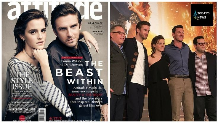 'It's a metaphor for AIDS' Emma Watson and Dan Stevens pose for the cove...