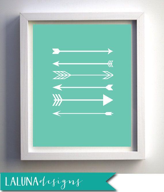 Arrow Wall Decor For Nursery : Arrow print wall art arrows nursery