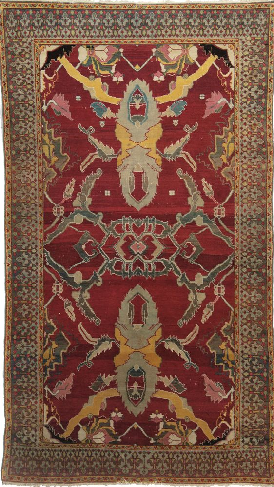 Indian Agra rug, 19th c, 211 x 119 cm, Moshe Tabibnia gallery