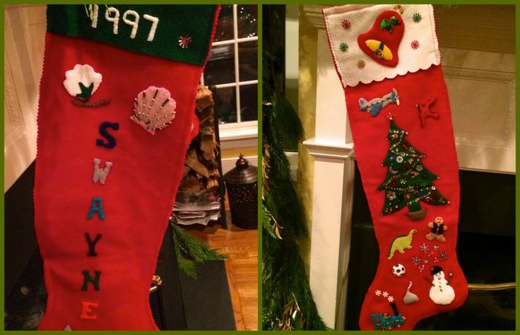 Swayne's Stocking Collage via The Gracious Posse
