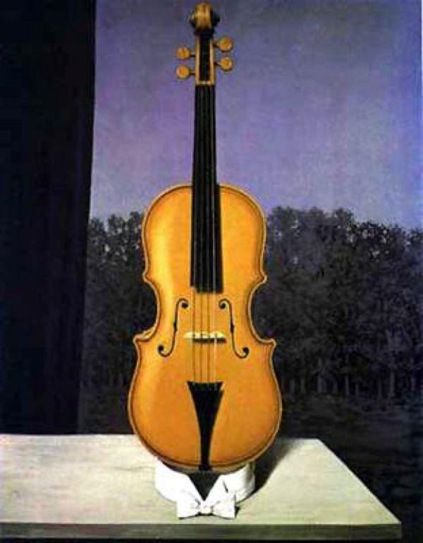 Reproduction de Magritte, Un peu de l'âme des bandits. Tableau peint à la main dans nos ateliers. Peinture à l'huile sur toile.