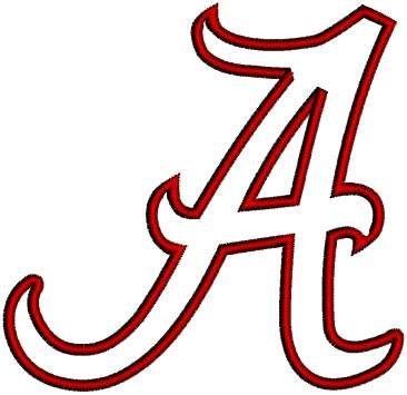 University of Alabama Crimson Tide Machine by sportsembroidery, $2.99
