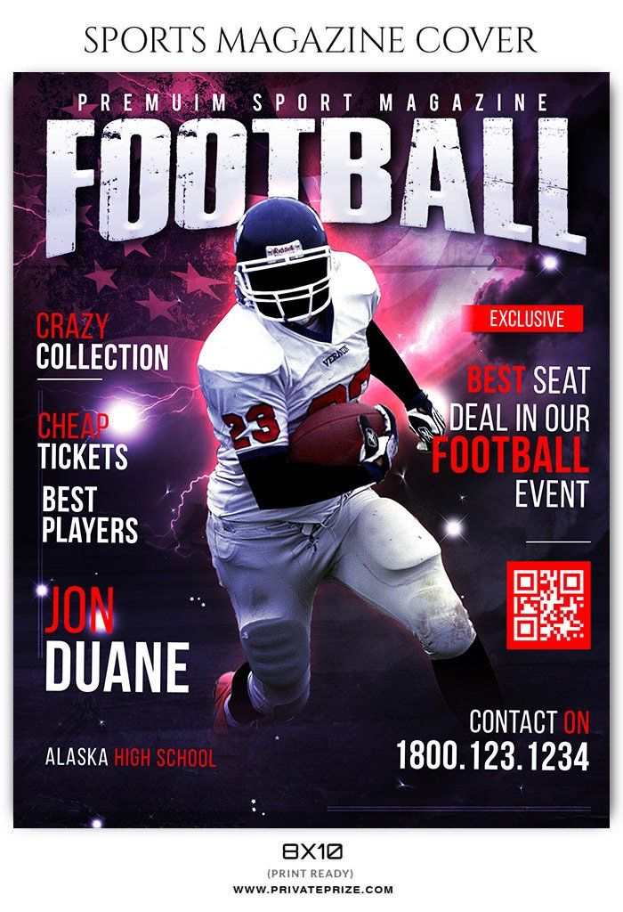 Football Sports Photography Magazine Cover Templates Sports Magazine Covers Sports Magazine Magazine Cover Template