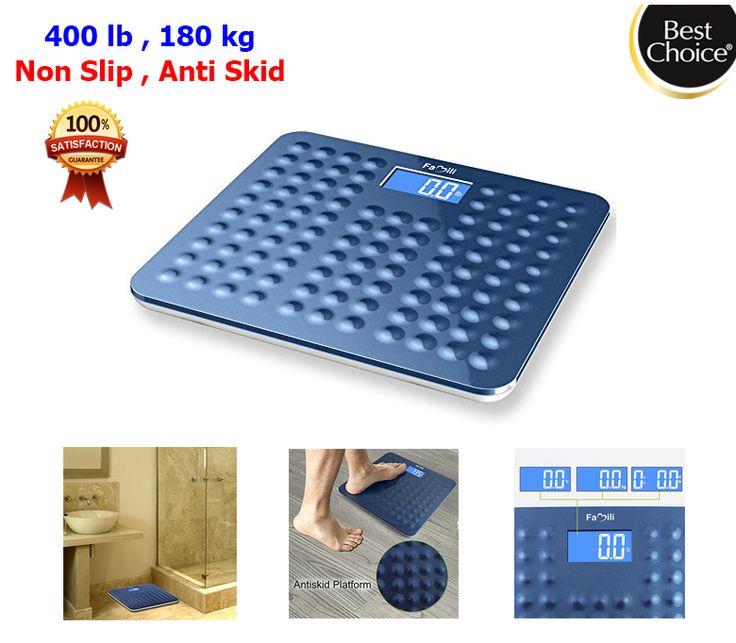 400lb 180kg Digital Body Weight Scale Nonskid Bathroom Wide Fat Scale Non Slip