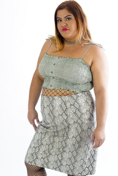 Current Pleather Snake Skin Skirt - 2XL      #curvy #plussize #fashion #windbreaker #90s #alternativecurves #plussizemodel #unicorn #unicorntears #camo #camo #pants #style