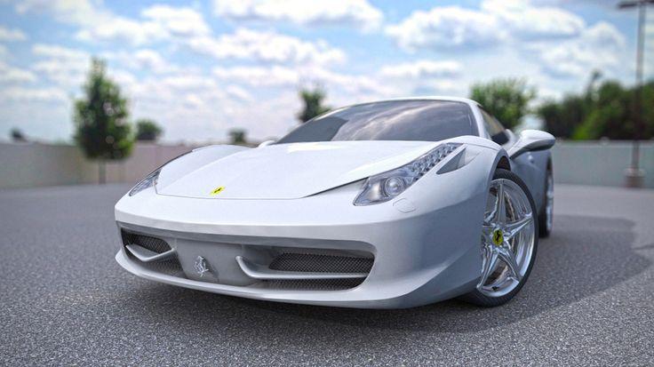 My Portfolio 3D model - Ferrari 458 Italia. Personal project.