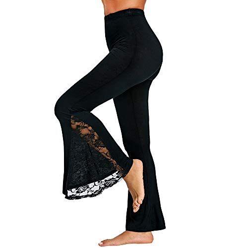 POQOQ Trousers New Women Casual High Waist Flare Wide Leg Long Pants Palazzo