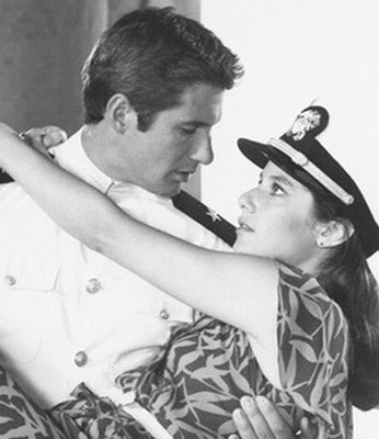 'An Officer and a Gentleman'  Richard Gere carries Debra Winger away. (Paramount Pictures)