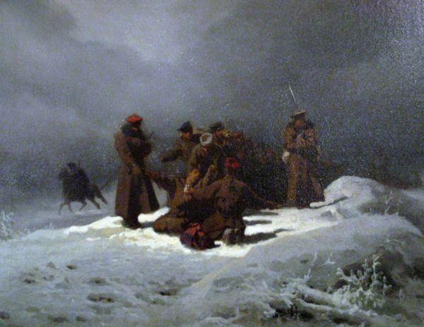 Marsz na syberii - Artur Grottger