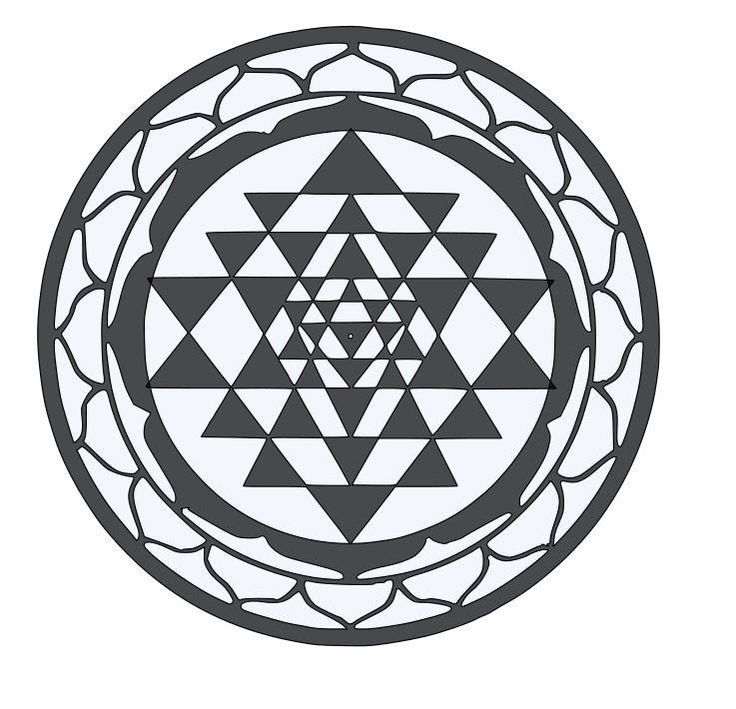 For your consideration is a die-cut vinyl Sri Yantra Sacred Geometry decal available in multiple sizes and colors. Vinyl decals will stick to any smooth clean surface including glass, walls, laptops,