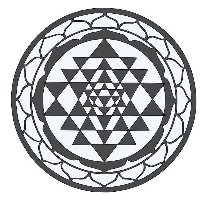 Sri Yantra Sacred Geometry Die-Cut Decal Car Window Wall Bumper Phone Laptop