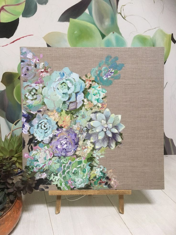 Succulent Sea Painting by MariaThomasCreations on Etsy https://www.etsy.com/uk/listing/507264364/succulent-sea-painting