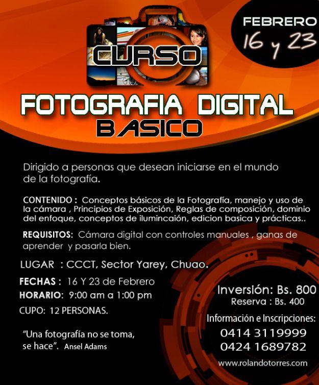 Curso Fotografia Digital Basico  y  de Febrero