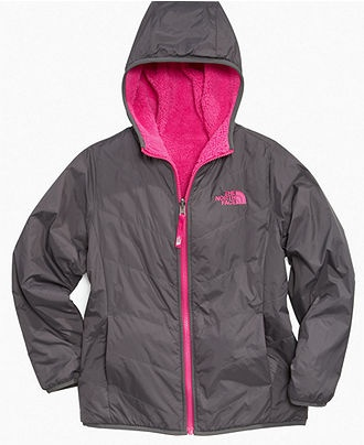 The North Face Kids Jacket, Girls Reversible Puffer Fleece Jackets - Kids The North Face - Macy's