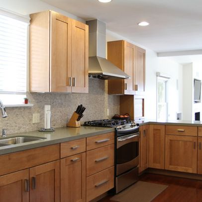 New Natural Birch Kitchen Cabinets