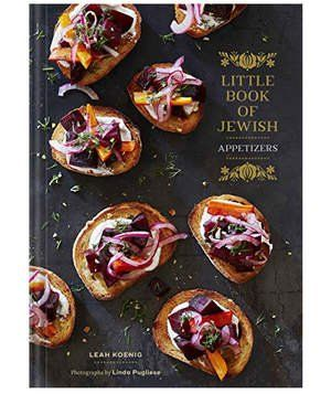 Little Book of Jewish Appetizers By Leah Koenig | Don't be thrown off by the small size of this book because it's packed with more than 25 modern appetizer recipes drawn from global Jewish influences. It's an elegant little book exploring Jewish culinary traditions with twists on the classic borscht and gefilte fish. Inspiring pairing ideas also included for the perfect bursting-with-flavor menu.