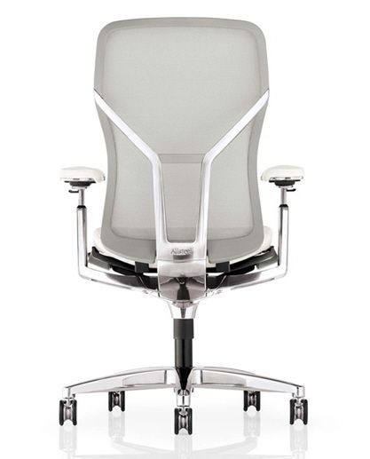 White Elegant Office Chair Design With Steel Material ~ http://lanewstalk.com/buying-elegant-office-chairs/