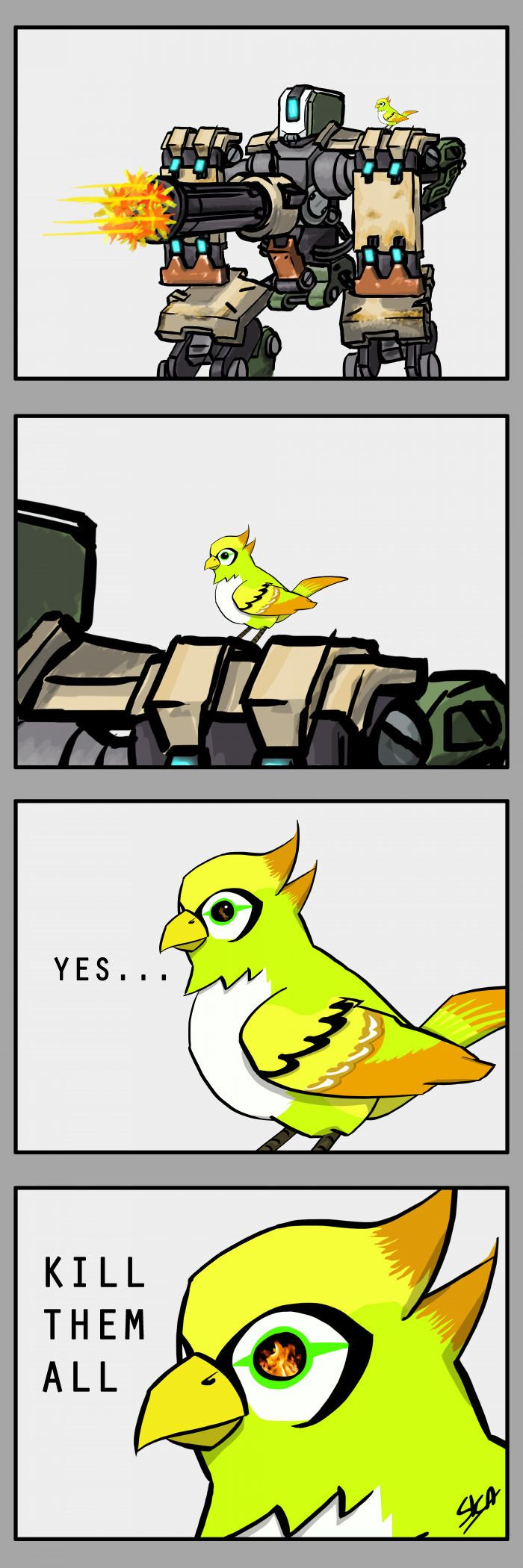 Bastion's bird has plans... #Overwatch