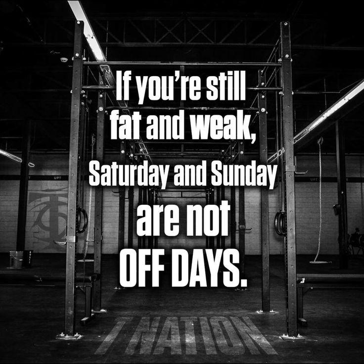 No off days!