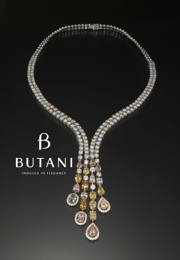 Wear all your favourite fancy colour diamonds together #Butani #ButaniJewellery #Diamonds