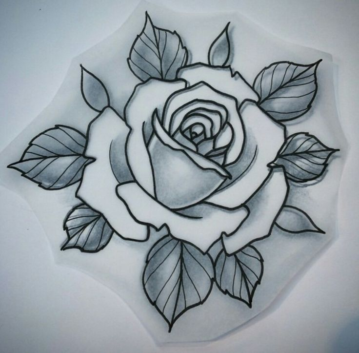 Line Drawing Rose Tattoo : Flor … pinteres…