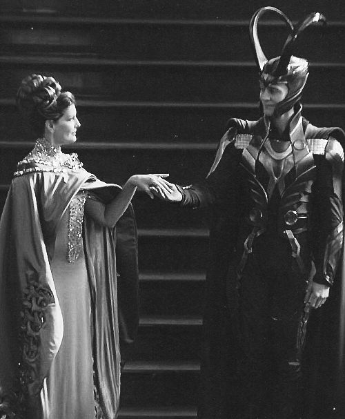 Loki and Frigga --- you cannot doubt that Loki loved Frigga, and that she loved him. Loki learned all his tricks from her. She spent time with him. Unlike Odin, Frigga didn't care about blood. Loki was just as much her son as Thor was.