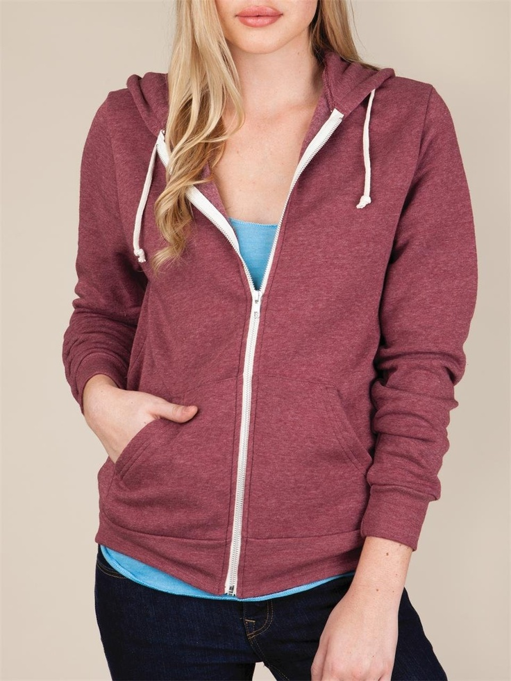 Alternative Apparel Women's Rocky Zip Hoodie : (W) - available in many colours