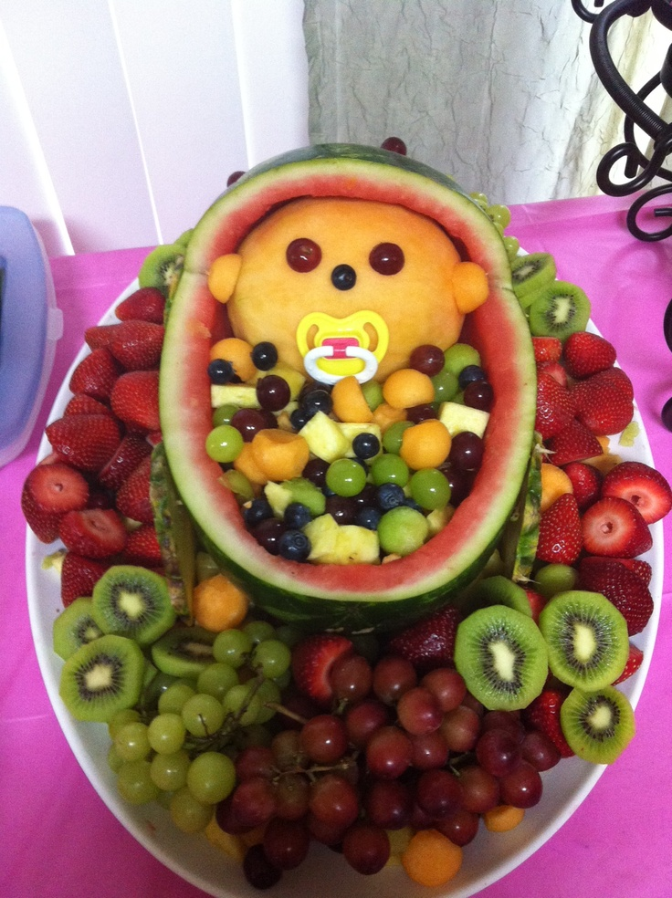 I think my friend wants to do this cute and yummmmm for Baby shower tray decoration