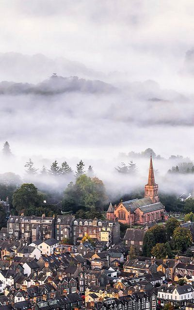 Misty Saint John - Keswick, Lake District, England   by Joe Daniel Price (flickr)