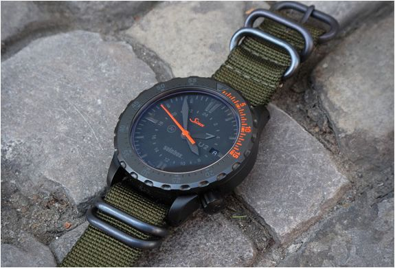 Sinn U2 limited edition for Solebox, military diving watch
