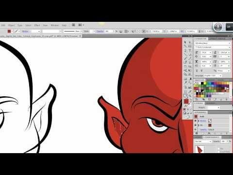 Ultimate Inking and Coloring Tutorial for Adobe Illustrator CS5 (short v... WEEK 6