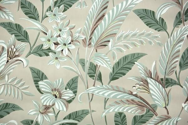 This Roll Of Wallpaper Is An Authentic Old Stock Roll From The 1950s It Is A Double Roll Which Wil Vintage Wallpaper Pattern Wallpaper Floral Pattern Design