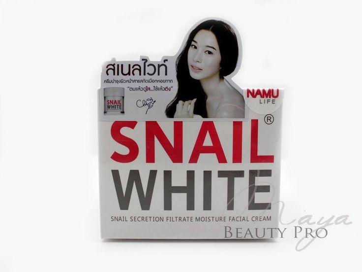 NAMU SNAIL WHITE CREAM SKIN WHITENING MOISTURIZER REMOVES ACNE SCARS #NAMU