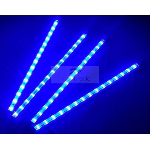 LED Cabinet Strip Light - LED Under Cabinet Lights (1.2W*4PCS, 30cm, Epister Chip, AC100-240V)