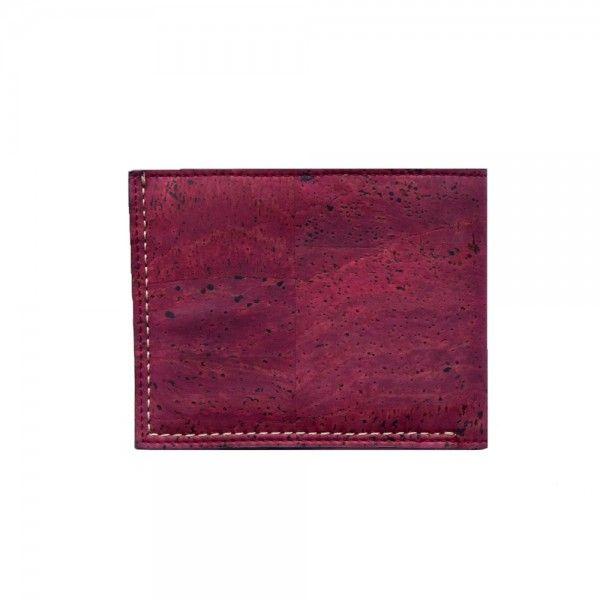 Glen Men's Coin Wallet in Oxblood - Vegan Wallets