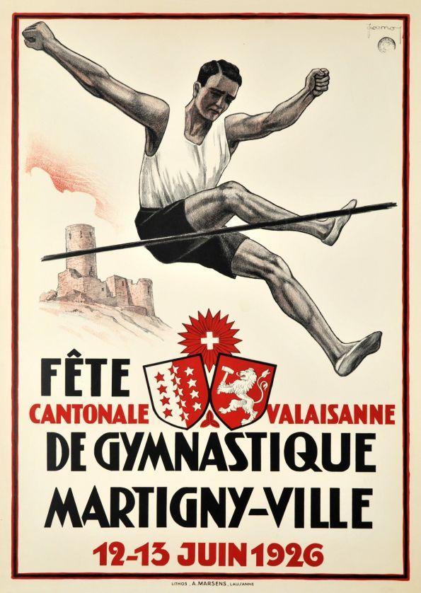 Fête Cantonale Valaisanne de Gymnastique, Martigny 1926 by Jacomo, Muller Jacomo / 1926