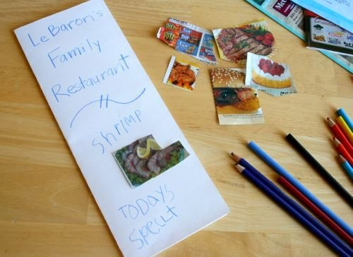 cute idea I need to cut out pictures too not just coupons