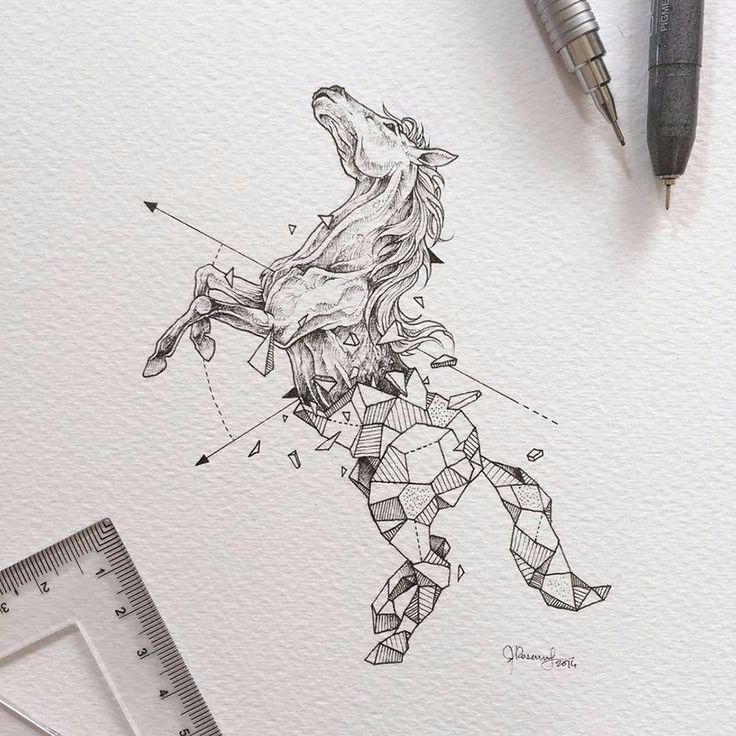 Uzdolniony grafik z Filipin tworzy niesamowite rysunki zgeometryzowanych zwierząt.