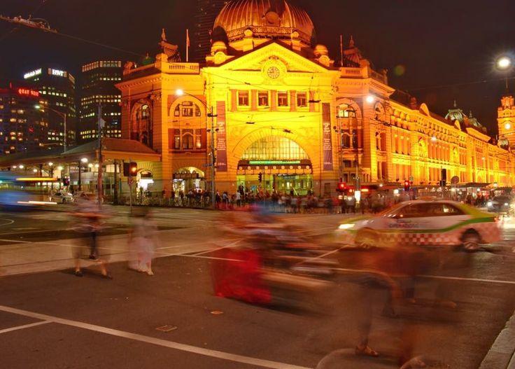 Melbourne, Flinders Street Station, Slow shutter