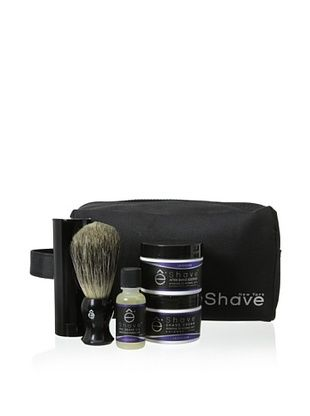 50% OFF eShave Luxury 5-Piece Travel Collection with Bag in Lavender Scent, Black