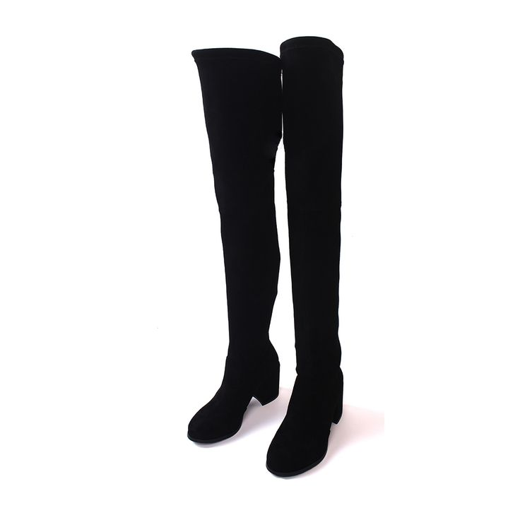 New Arrival Fashion Over The Knee Boots Women Casual Kid Suede Square Heels  Round Toe Vintage 422a597bf0d0